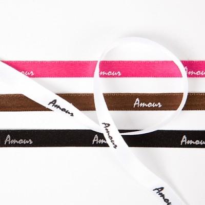 Rubans « amour » (x6) fuchsia