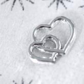Cœurs entrelacés à parsemer or