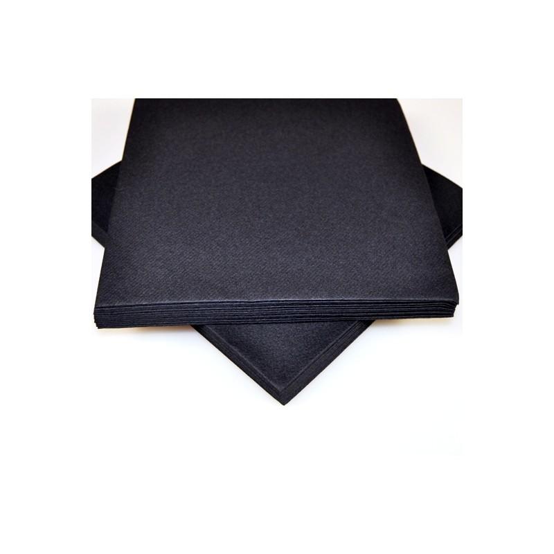 serviettes voie s che x25 noir. Black Bedroom Furniture Sets. Home Design Ideas