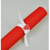 Serviettes voie sèche (x25) rouge