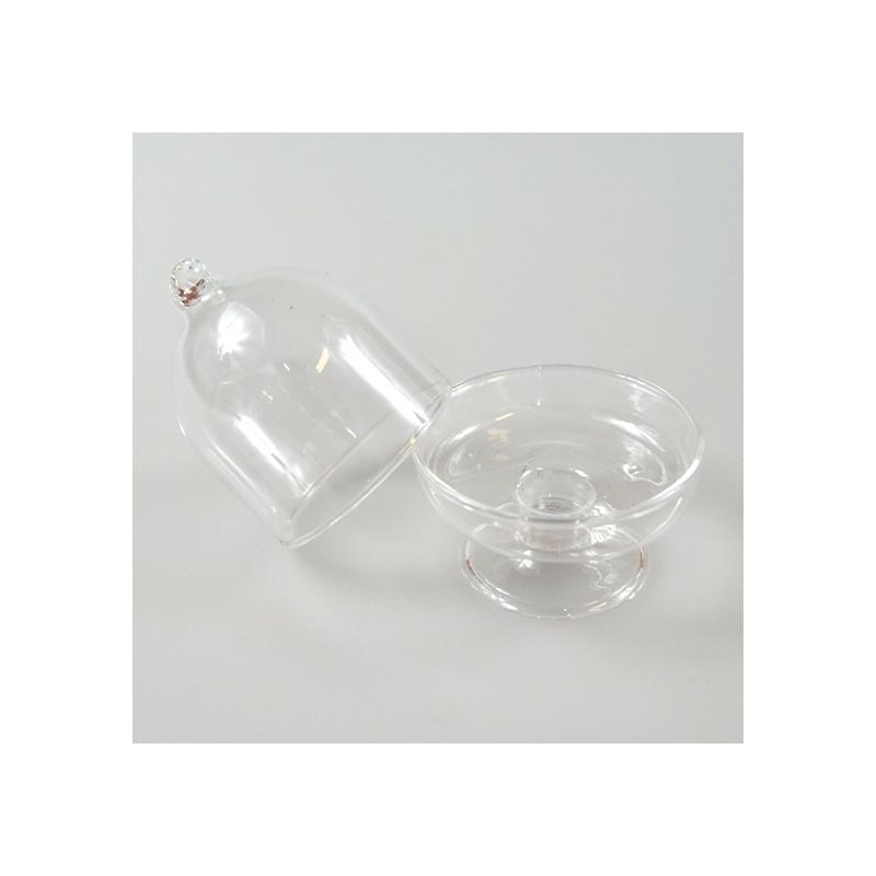 6 mini cloches en verre transparent. Black Bedroom Furniture Sets. Home Design Ideas