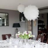 Boule géante en plume blanc