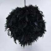 Boule géante en plume noir