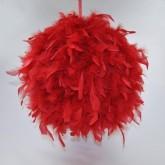 Boule géante en plume rouge