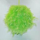 Boule géante en plume vert anis