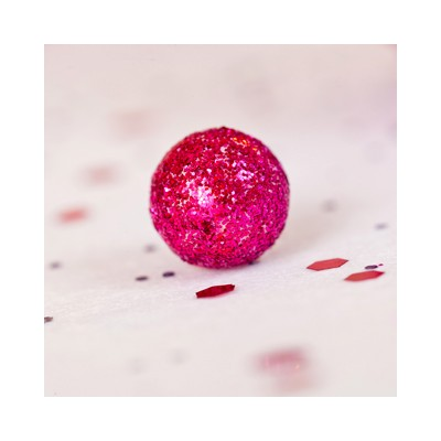 Mini boules festives (x50) fuchsia