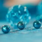 Mini boules festives x50 turquoise