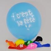 Ballons « C'est la Fête » (x8)