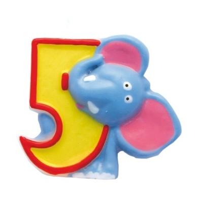 Bougie âge Safari multicolore 5