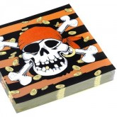 Serviettes pirates (x20)