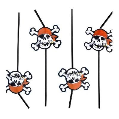 Pailles pirates (x8)