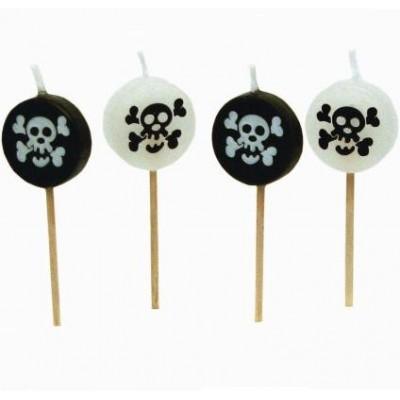 Bougies sur pic pirates (x8)