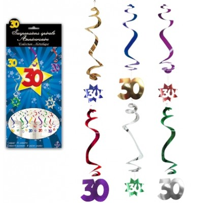 Suspensions spirales 30 ans x3 type