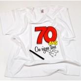 Tee-shirt anniversaire à signer 70 ans type