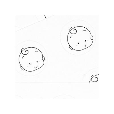 Etiquettes bébé garçon(x25) type
