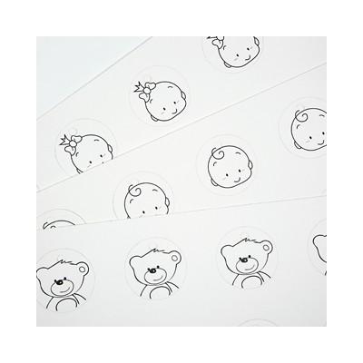 Etiquettes bébé ourson (x25) type