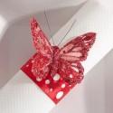 Papillons magiques (x6) rouge