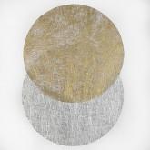Sets ronds intissés métallisés or (x6)