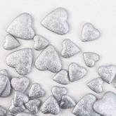 Cœurs irisés à parsemer argent