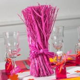 Fagot centre de table fuchsia