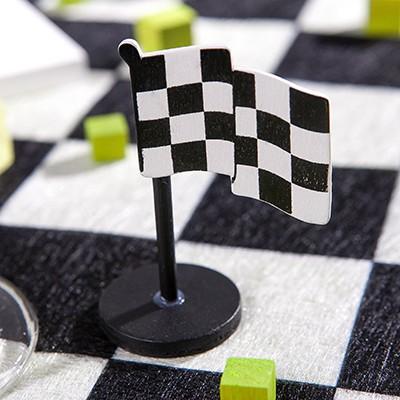 Drapeaux rallye (x3) noir / blanc