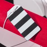 Plaques bicolores en bois peint (x6) noir / blanc