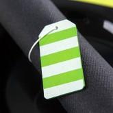 Plaques bicolores en bois peint (x6) vert anis / blanc