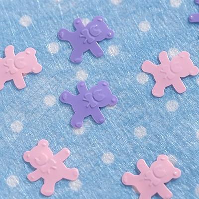 Confettis de table oursons rose / parme