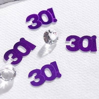 Confettis de table violets 30 ans