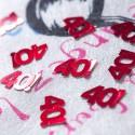 Confettis de table rouges 40 ans rouge