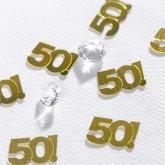 Confettis de table dorés 50 ans or
