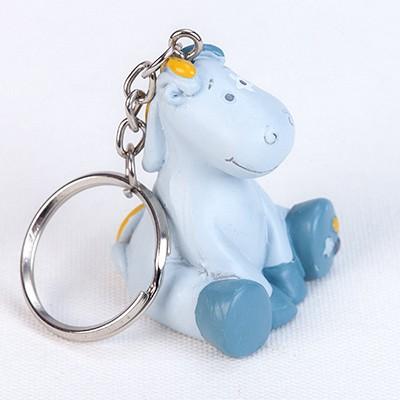 Porte-clés Noukies bleu gris