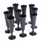 Flutes à champagne ciselées (x10) noir