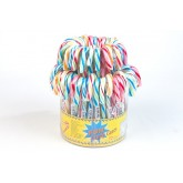 Cannes de sucre d'orge multicolores (x72)