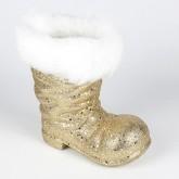 Botte de père Noël grand modèle or