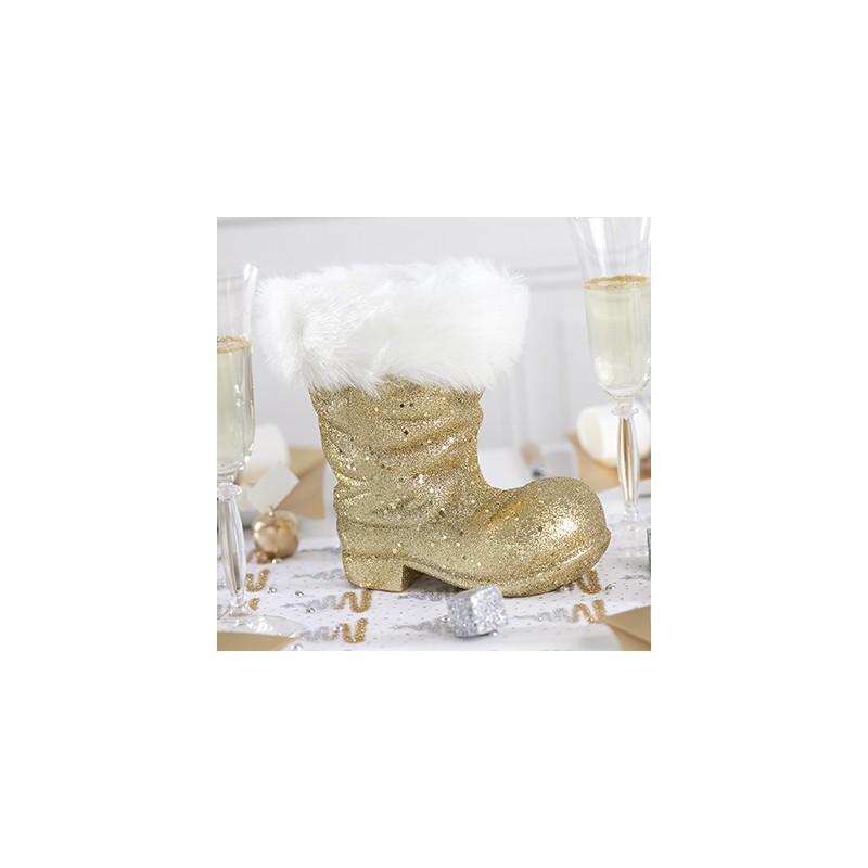 Botte de p re no l grand mod le or - Grand pere noel decoration ...