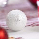 Grosses boules pailletées sur tiges x6 blanc