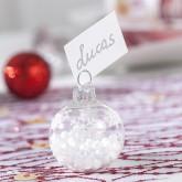 Boules de Noël marque-places flocons (x6)