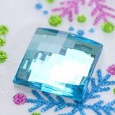Grands diamants carrés à parsemer (x6) turquoise