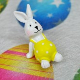 Petits lapins sur stickers (x4) blanc / jaune