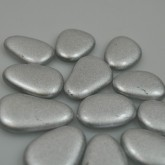 Galets métallisés (x12) argent