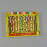 Boite de 12 candy canes multicolore