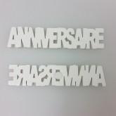 Stickers Anniversaire en bois peint (x6) blanc