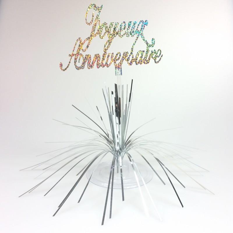centre de table joyeux anniversaire type. Black Bedroom Furniture Sets. Home Design Ideas