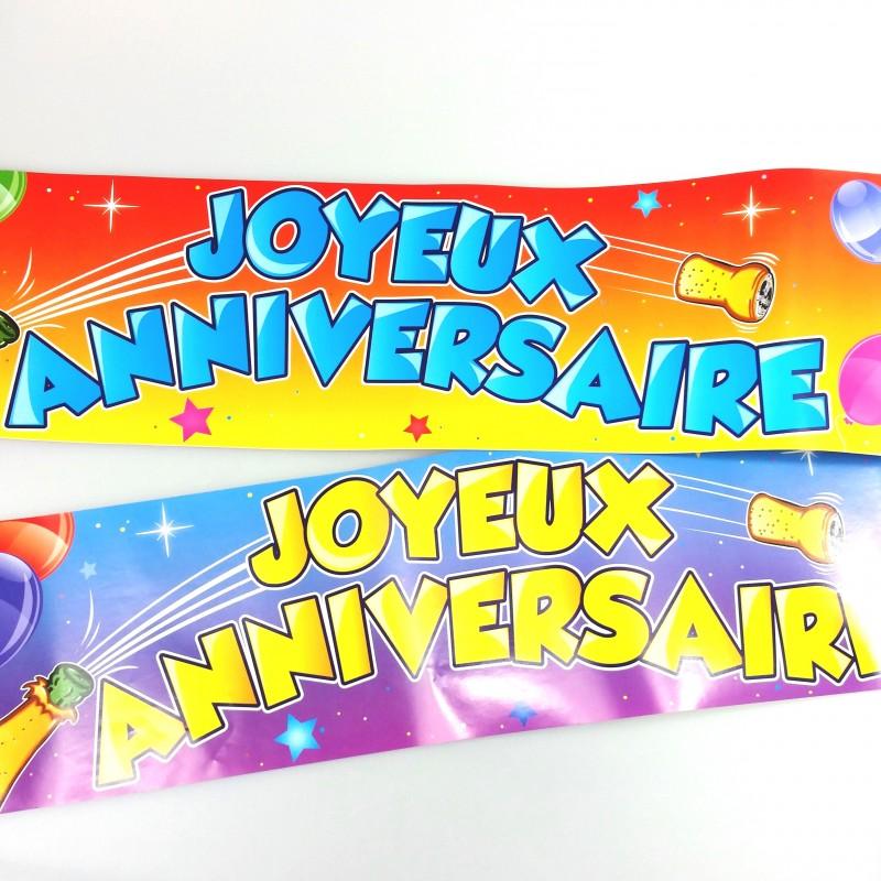 Banniere Joyeux Anniversaire Multicolore Maplusbelledeco Com