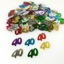 Confettis 40 ans multicolore