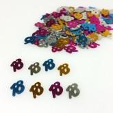 Confettis 18 ans multicolore
