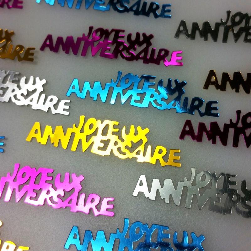 Confettis de table joyeux anniversaire multicolore - Deco table multicolore ...