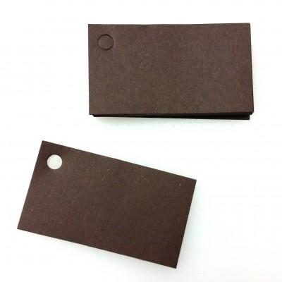 Etiquettes perforées unies de couleur (x25) chocolat