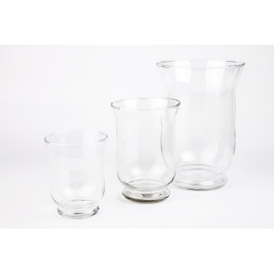 Ensemble de 3 pots en verre transparent